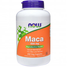Мака, Now Foods, Maca, 500 мг, 100 капсул