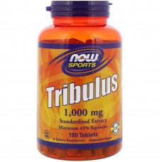 Трибулус, Now Foods, Tribulus, 1000 мг, 180 таблеток
