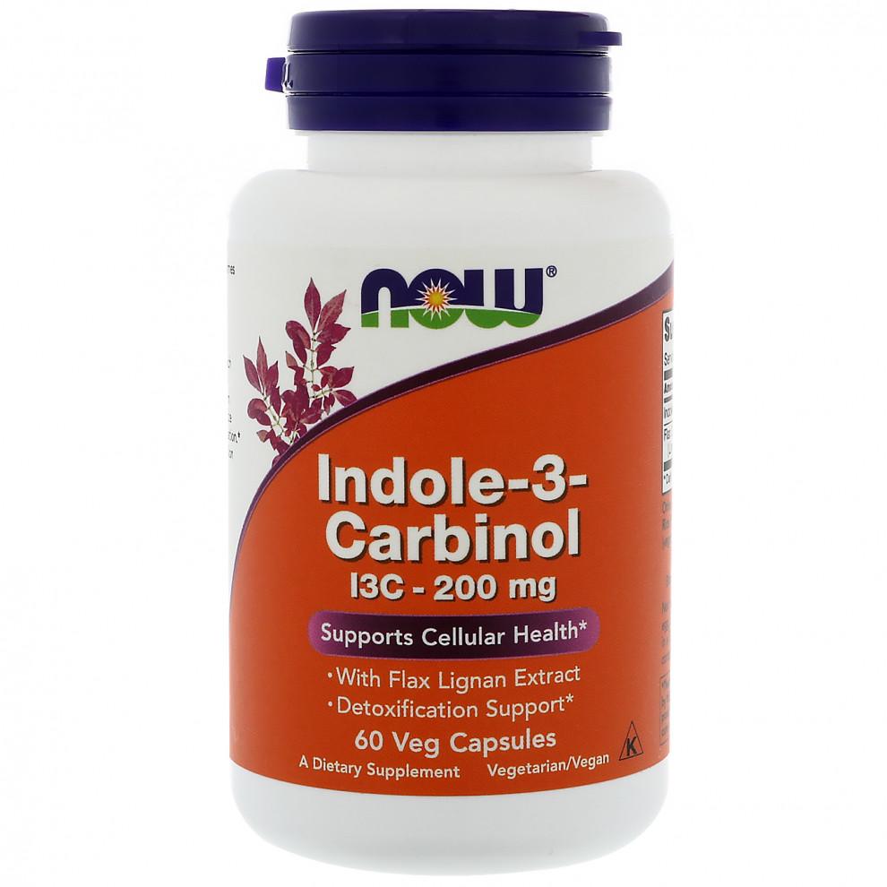 Індол 3 Карбінол,  Now Foods, Indole-3-Carbinol, 200 мг, 60 капсул