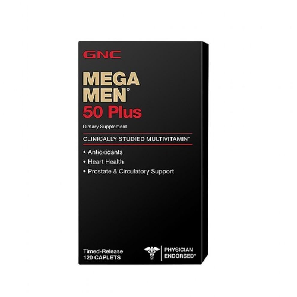 Мультивитамины, GNC, Mega Men 50+, 60 капсул