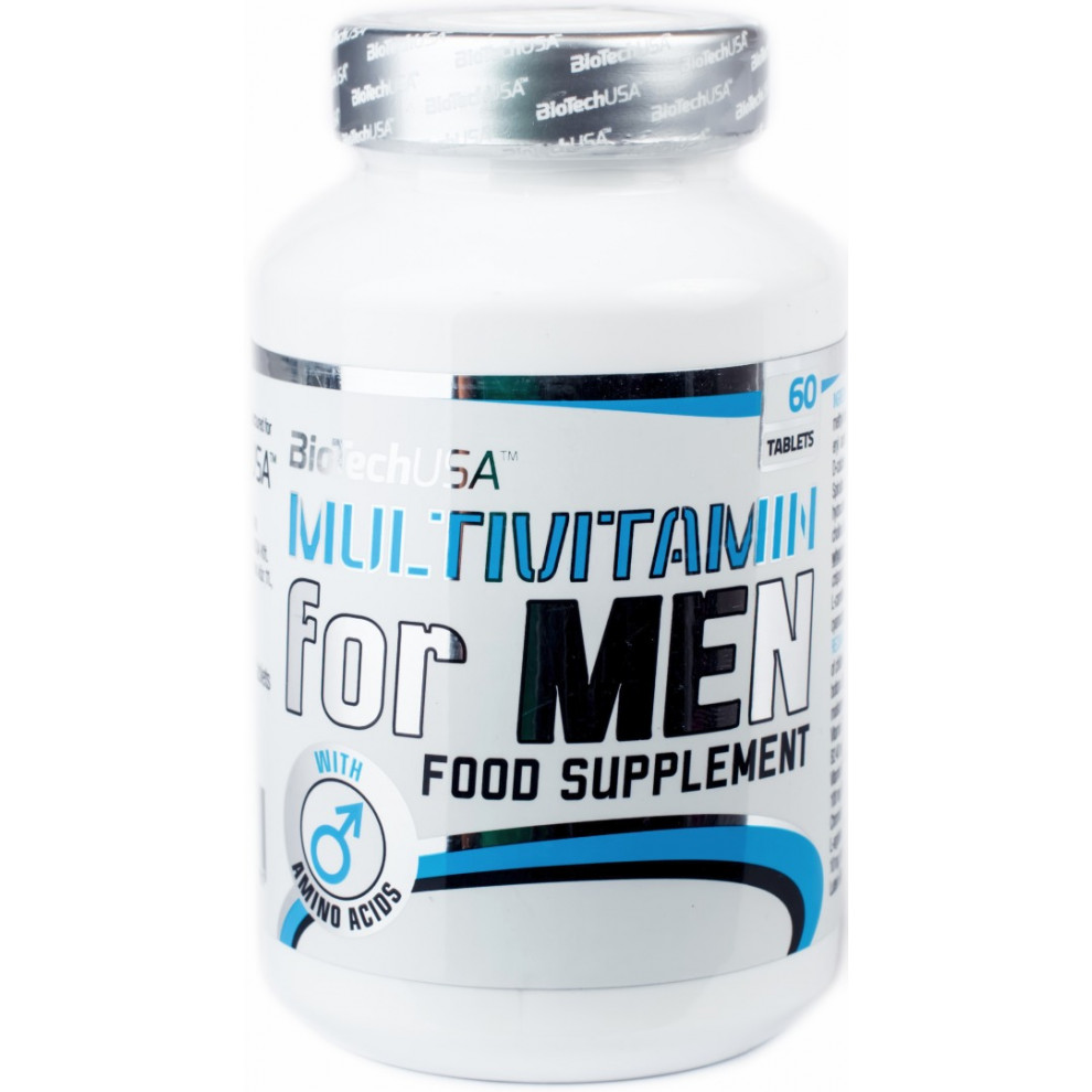 Мультивитамины, BiotechUSA, Multivitamin for Men, 60 таблеток