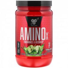 Амино Х, BSN, Amino X, (зеленое яблоко), 435 г