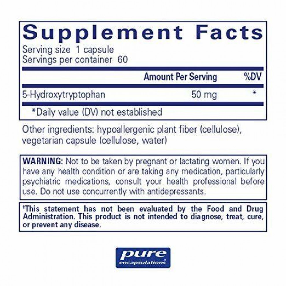 5-HTP, Puritan`s Pride , 100 мг, 60 капсул