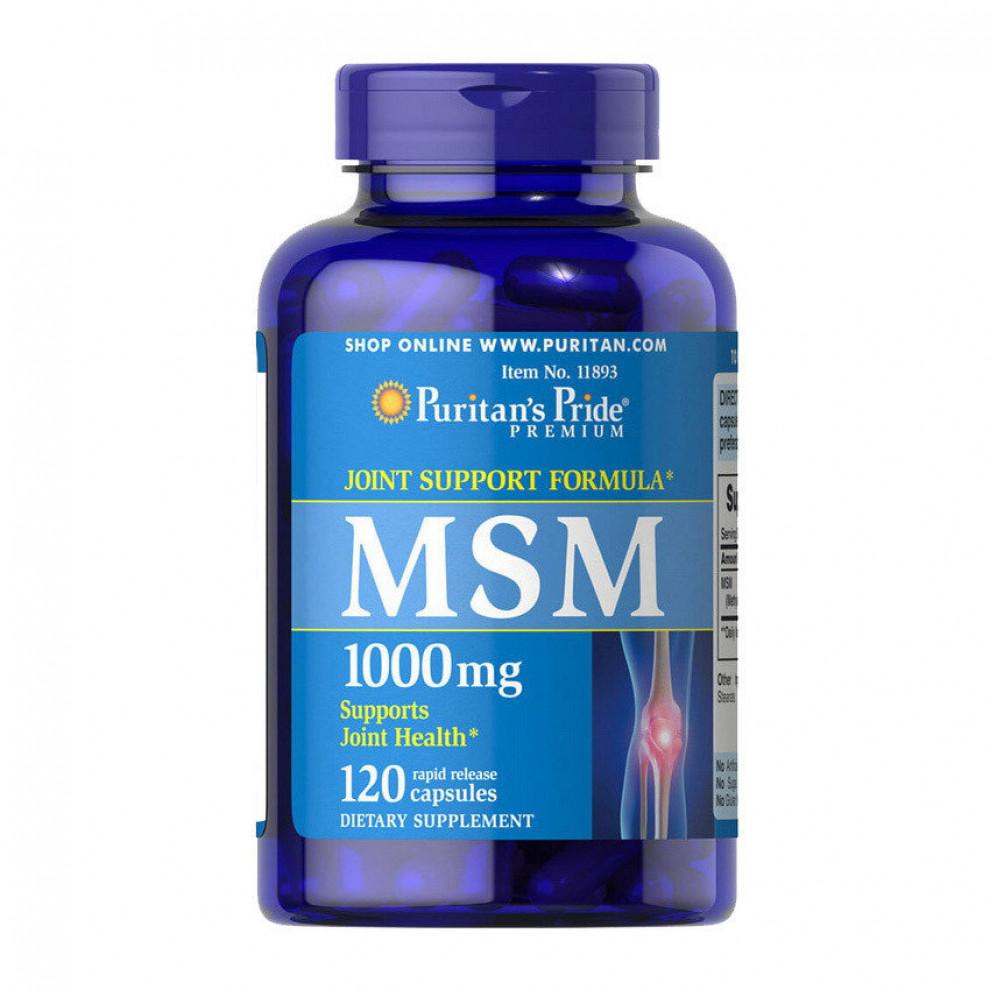Сірка, Puritan`s Pride, MSM 1000 мг, 120 капсул