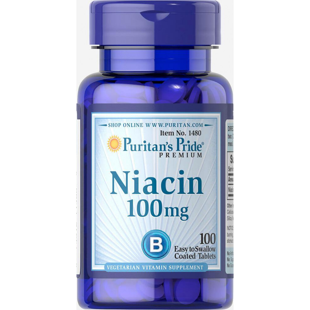 Ніацин, Puritan`s Pride, Niacin, 100 мг, 100 таблеток