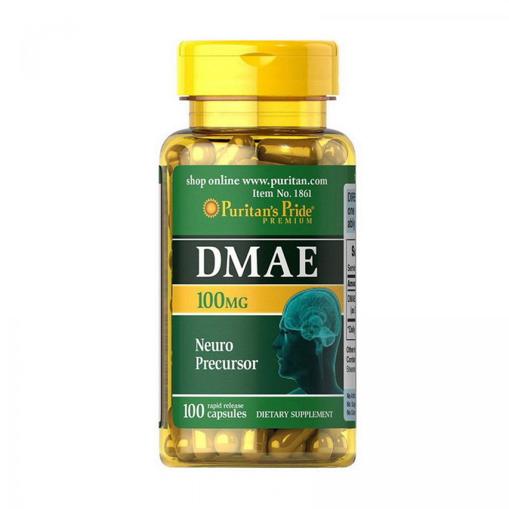 DMAE (Диметиламіноетанол), Puritan`s Pride, 100 мг, 100 капсул