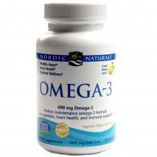 Омега-3 зі смаком лимону, Nordic Naturals, Ultimate Omega, 690 мг, 60 капсул