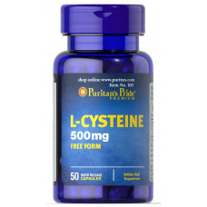 L-Цистеїн, Puritan`s Pride, L-Cysteine, 500 мг, 50 капсул