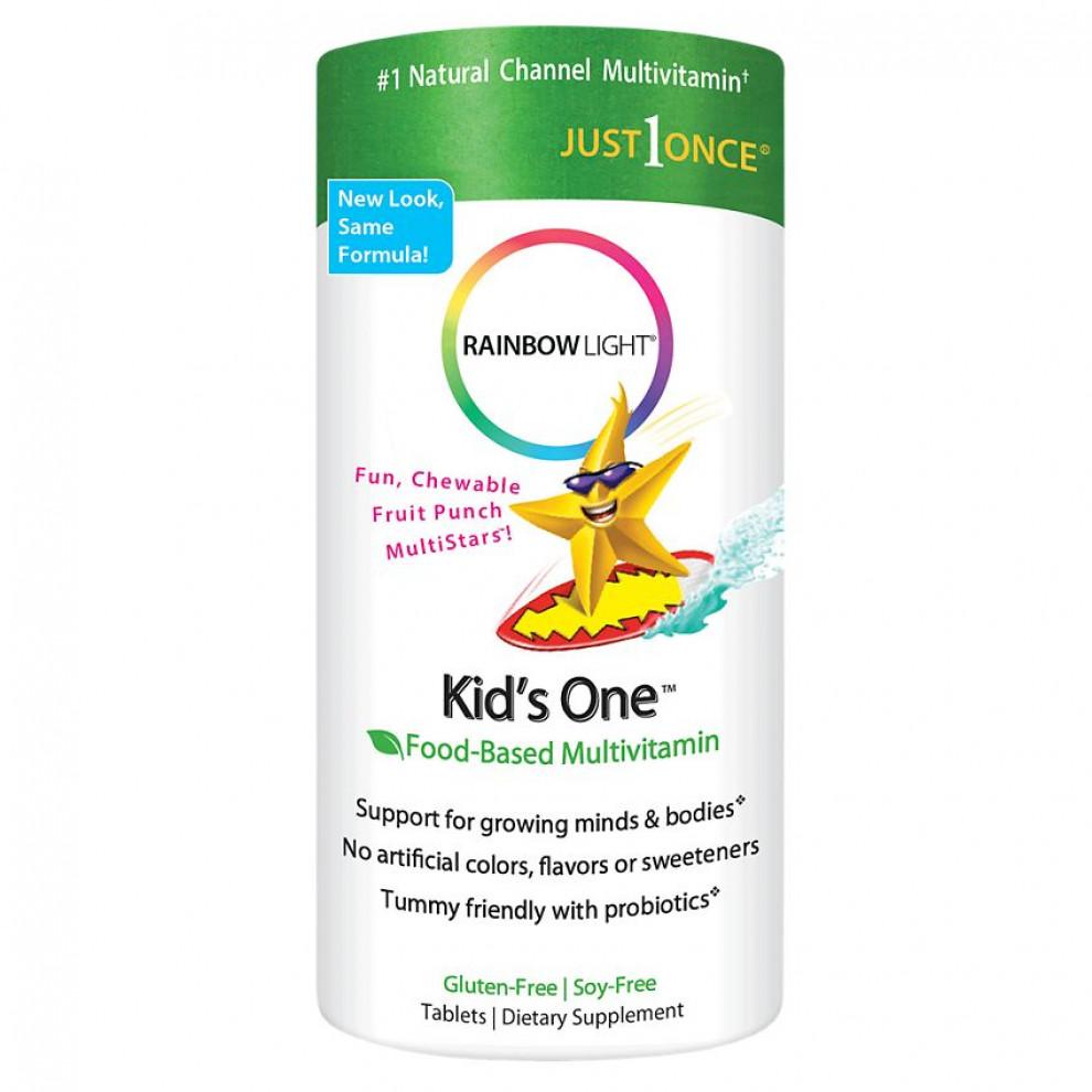 Мультивітаміни для дітей, Rainbow Licht,  Multi-vitamin, 90 жувальних таблеток