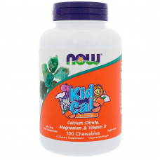 Кальцій і Магній +D3, Now Foods, Kid Calcium & Magnesium with D3 , 100 капсул
