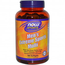 Мультивітаміни,  Now Foods, Men`s  Extreme Sports Multi, 90 капсул