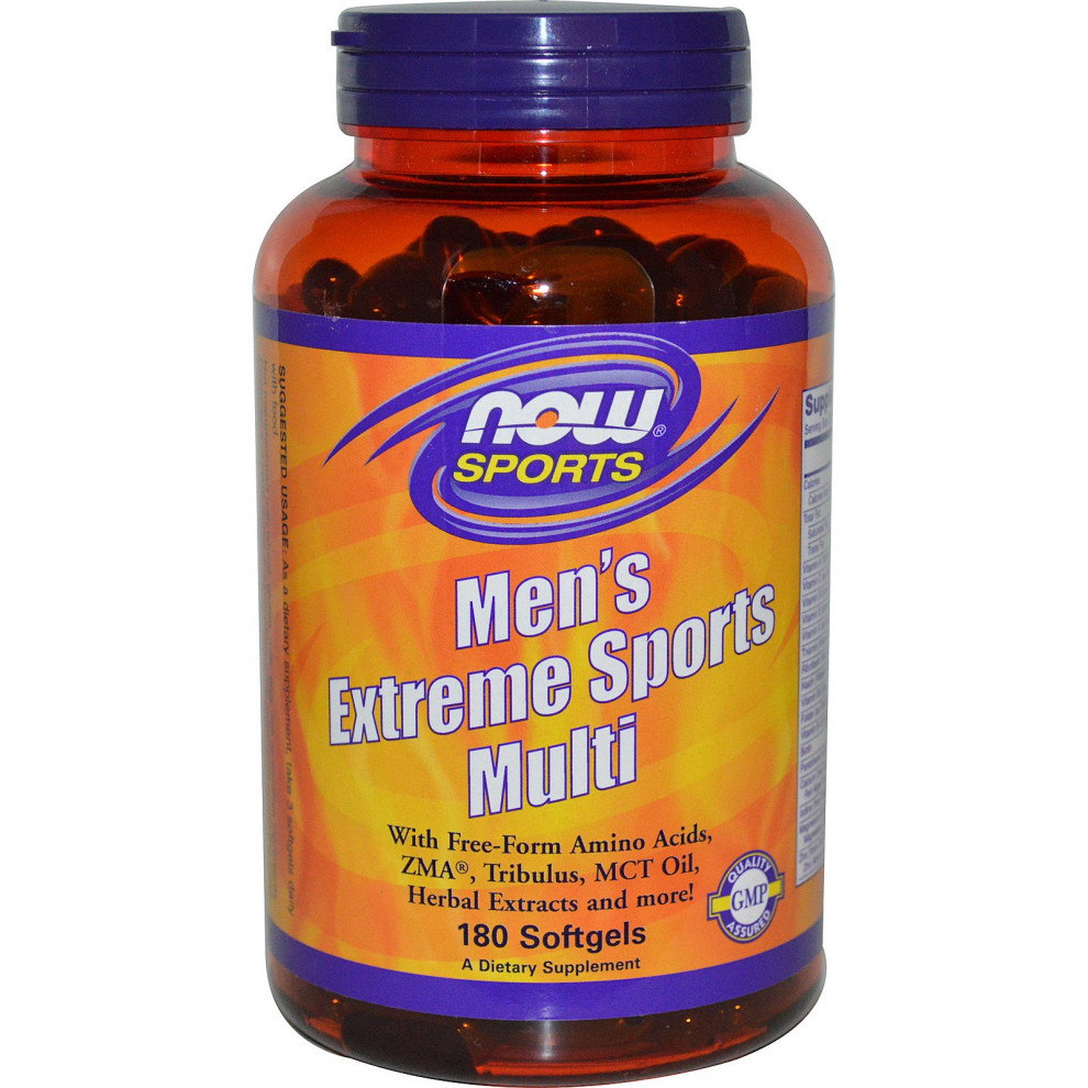 Мультивитамины, Now Foods, Men's Extreme Sports Multi, 90 капсул