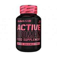 Мультивітаміни, Мультивітаміни, BiotechUSA, Active Women, 60 таблеток