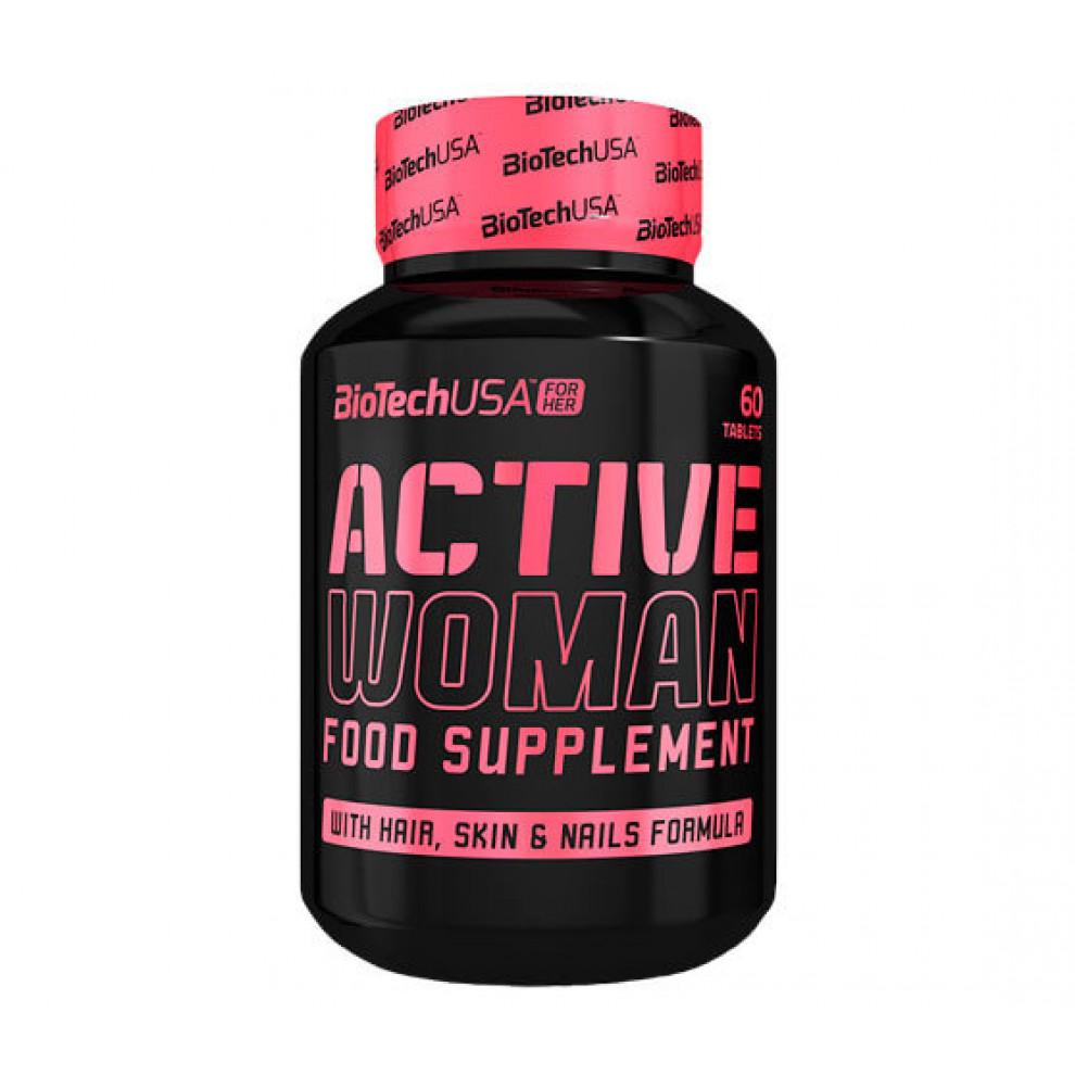 Мультивитамины, BiotechUSA, Active Women, 60 таблеток