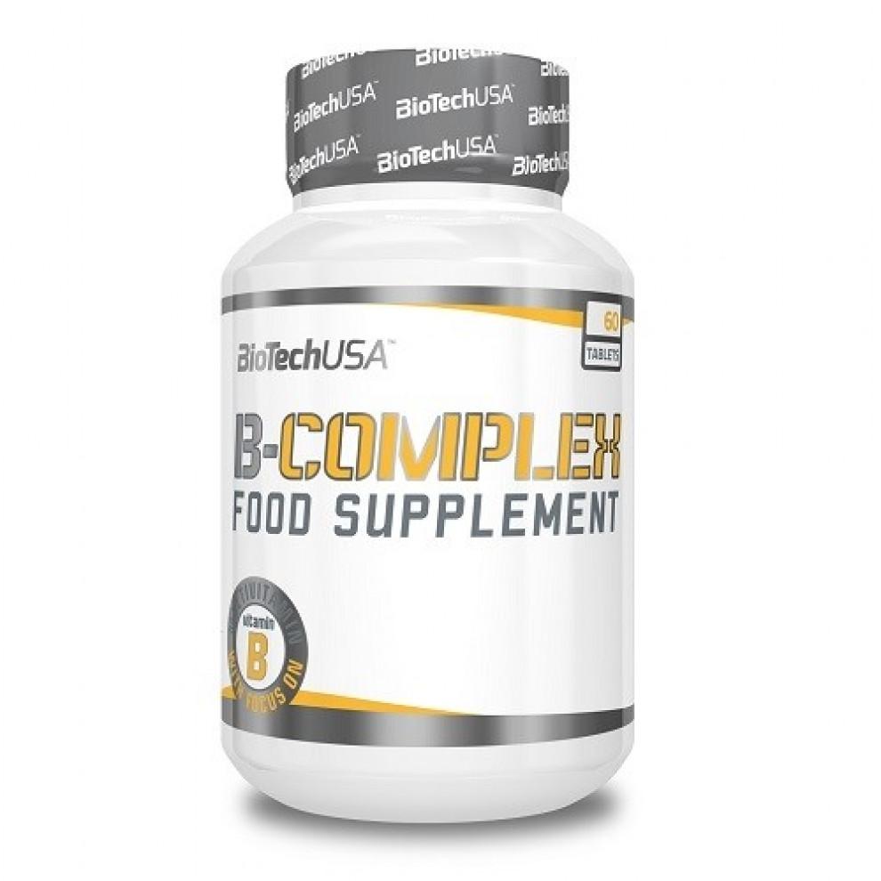 Комплекс витаминов B, BiotechUSA, Vitamin Complex B, 60 таблеток