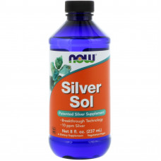 Срібло, Now Foods, Silver Sol, 237 мл