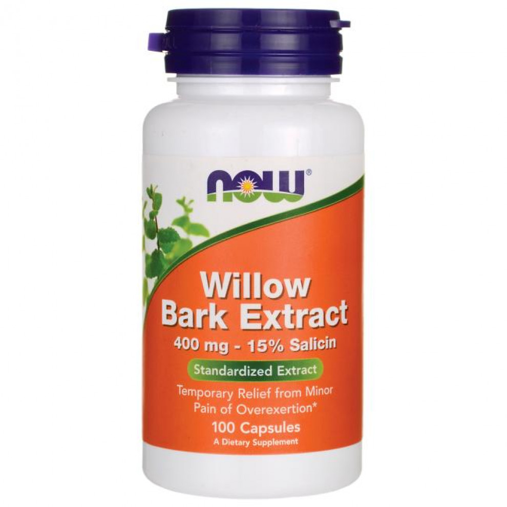 Ива белая, Now Foods, Willow, 400 мг, 100 капсул