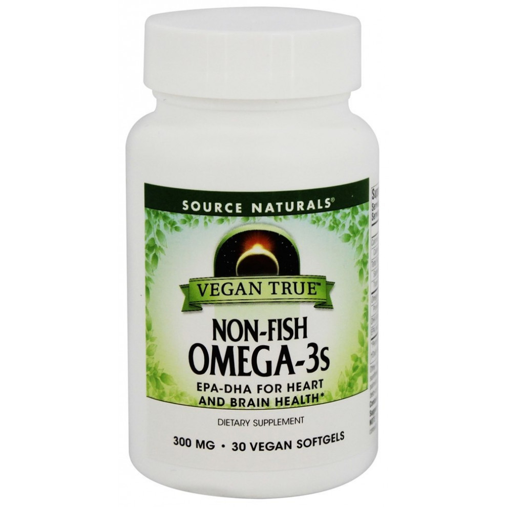 Омега 3, Source Naturals, Non-Fish Omega 3, 300 мг, 30 капсул