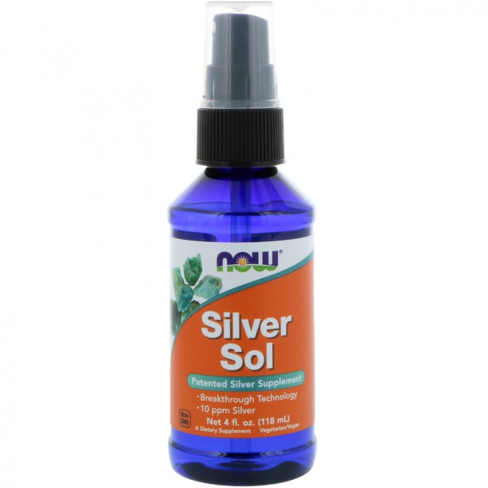 Срібло, Now Foods, Silver Sol, 118 мл