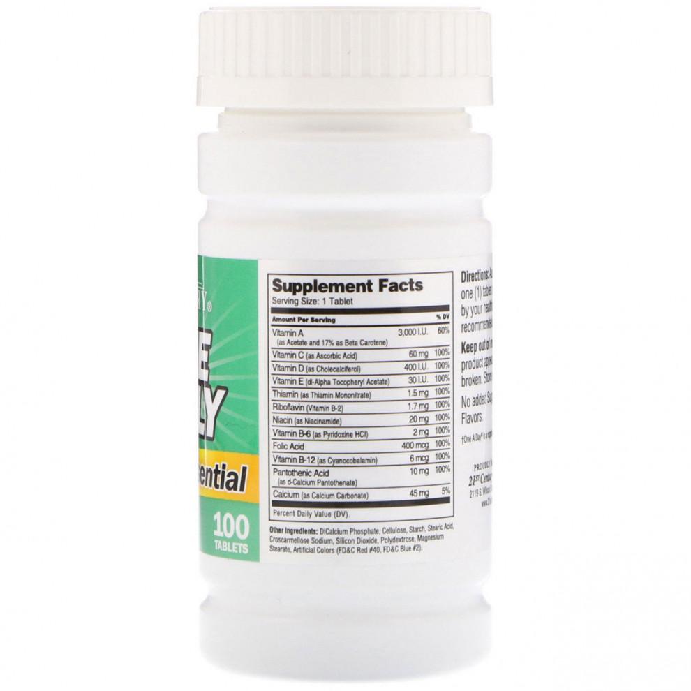 Мультивітаміни, 21 Century, One Daily , 100 таблеток