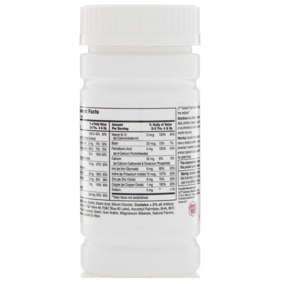 Мультивитамины для детей, 21 Century, Zoo Friends, 60 жевательных таблеток