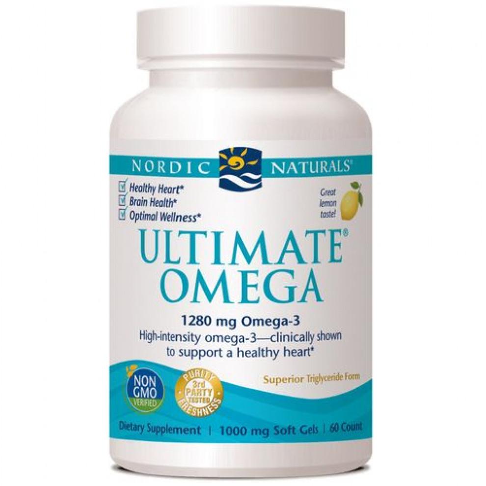 Омега-3 зі смаком лимону, Nordic Naturals, Ultimate Omega Xtra + D3, 1480 мг, 1000 мо,  60 капсул