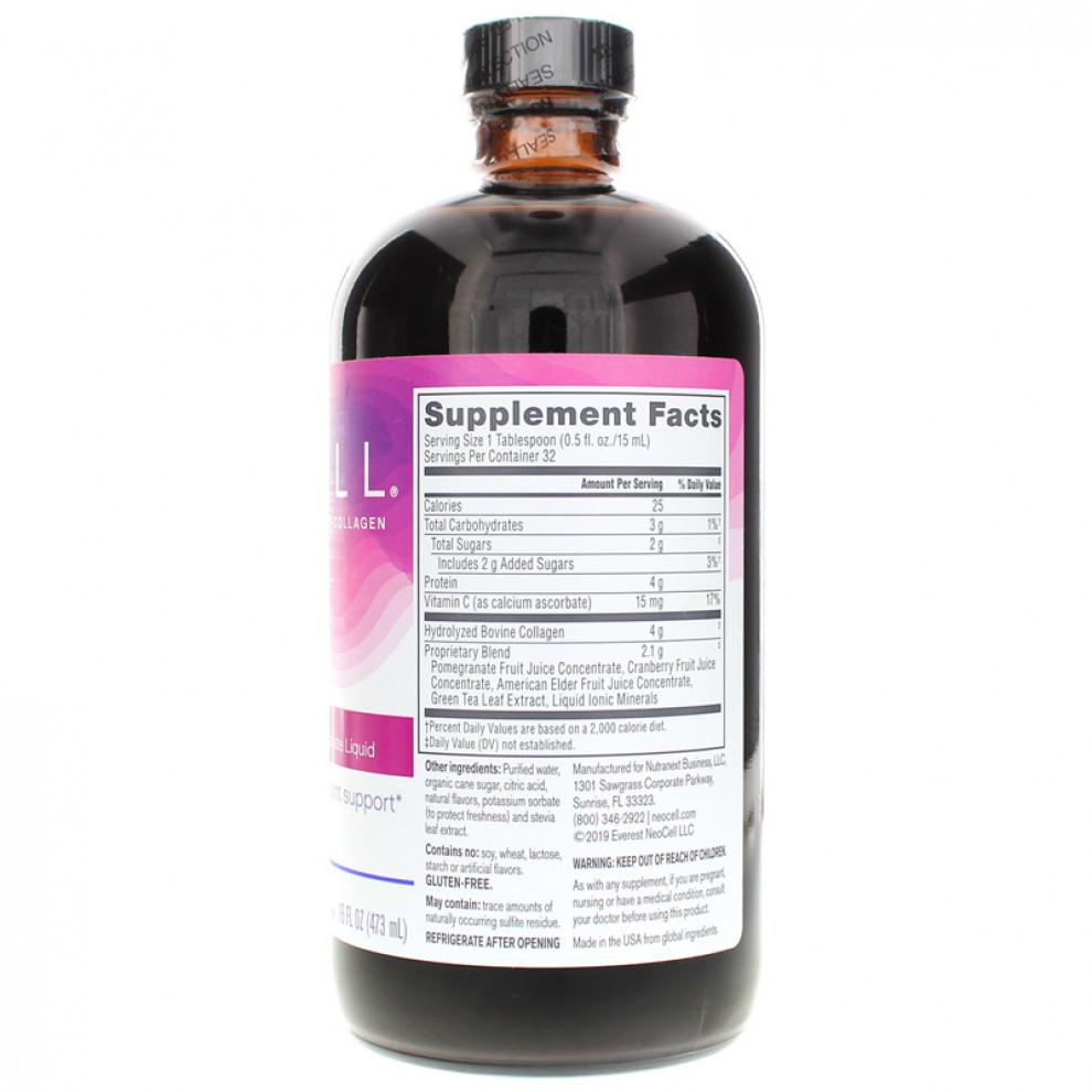 Колаген + вітамін  С, Neocell, Сollagen+C, гранат, 4000 мг, 473 мл