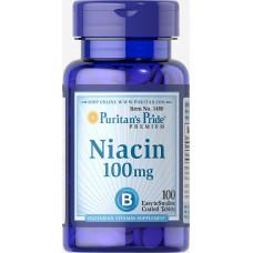 Ниацин, Puritan's Pride, Niacin Inositol Nicotinate, Flush Free, 500 мг, 100 капсул