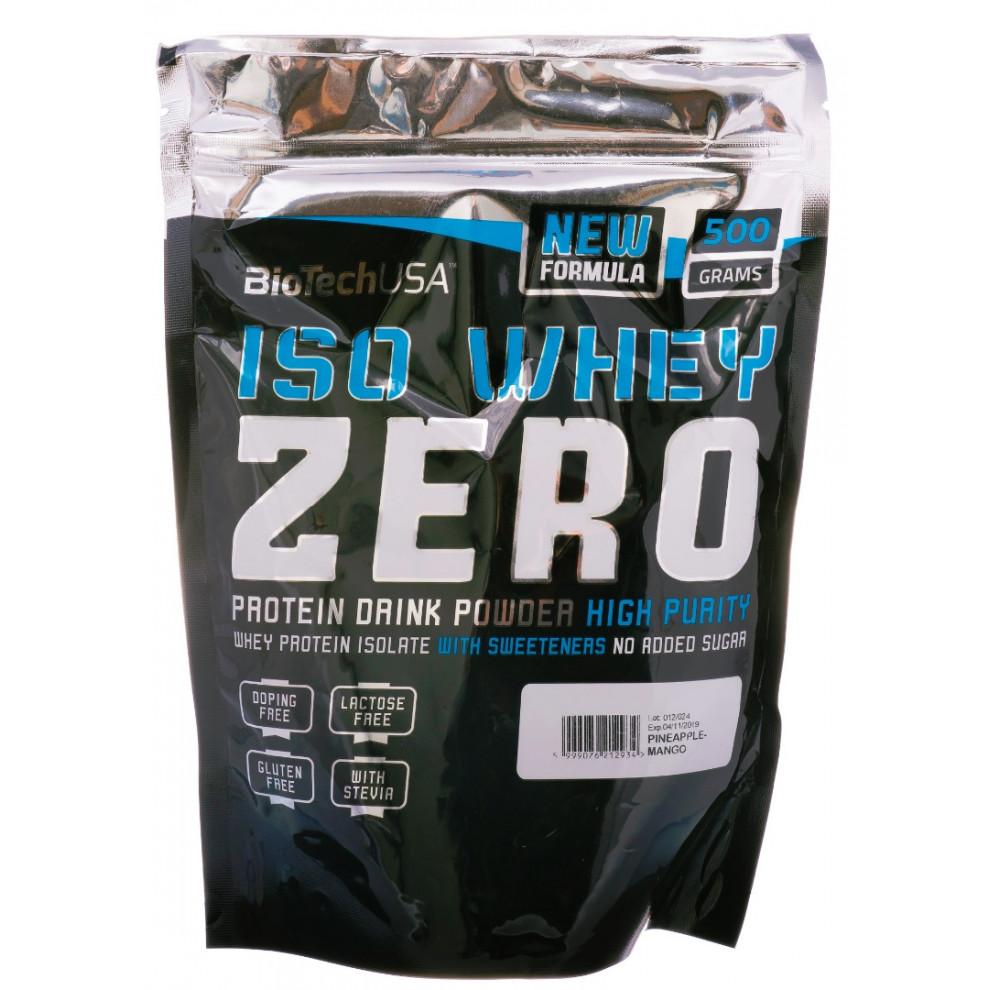 Протеїн, IsoWhey Zero, BiotecUSA, (полуниця), 500 г