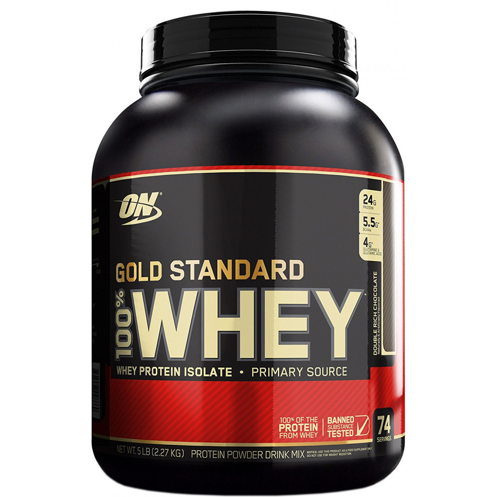 Протеин, 100% Whey Gold Standard двойной (шоколад), Optimum Nutrition, 909 г