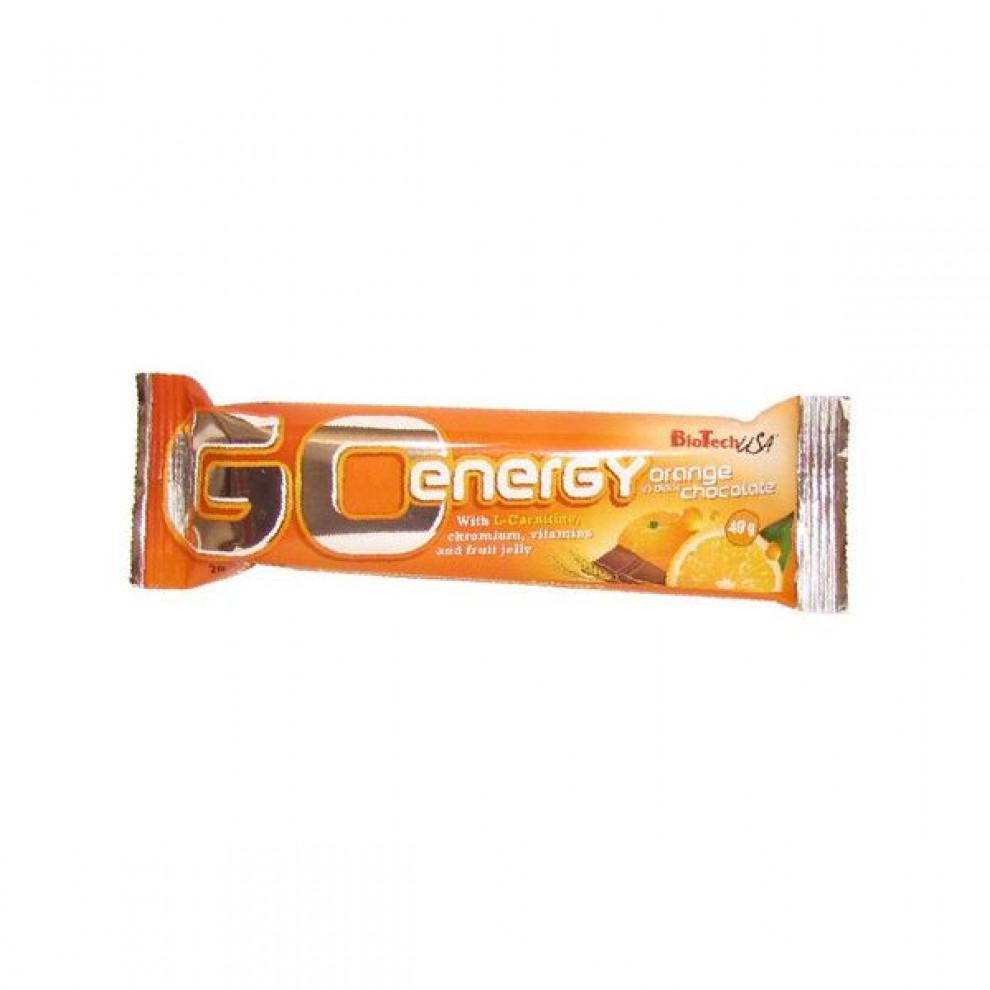 Протеиновый батончик Go energy Bar (банан), BioTechUSA, 80 гр
