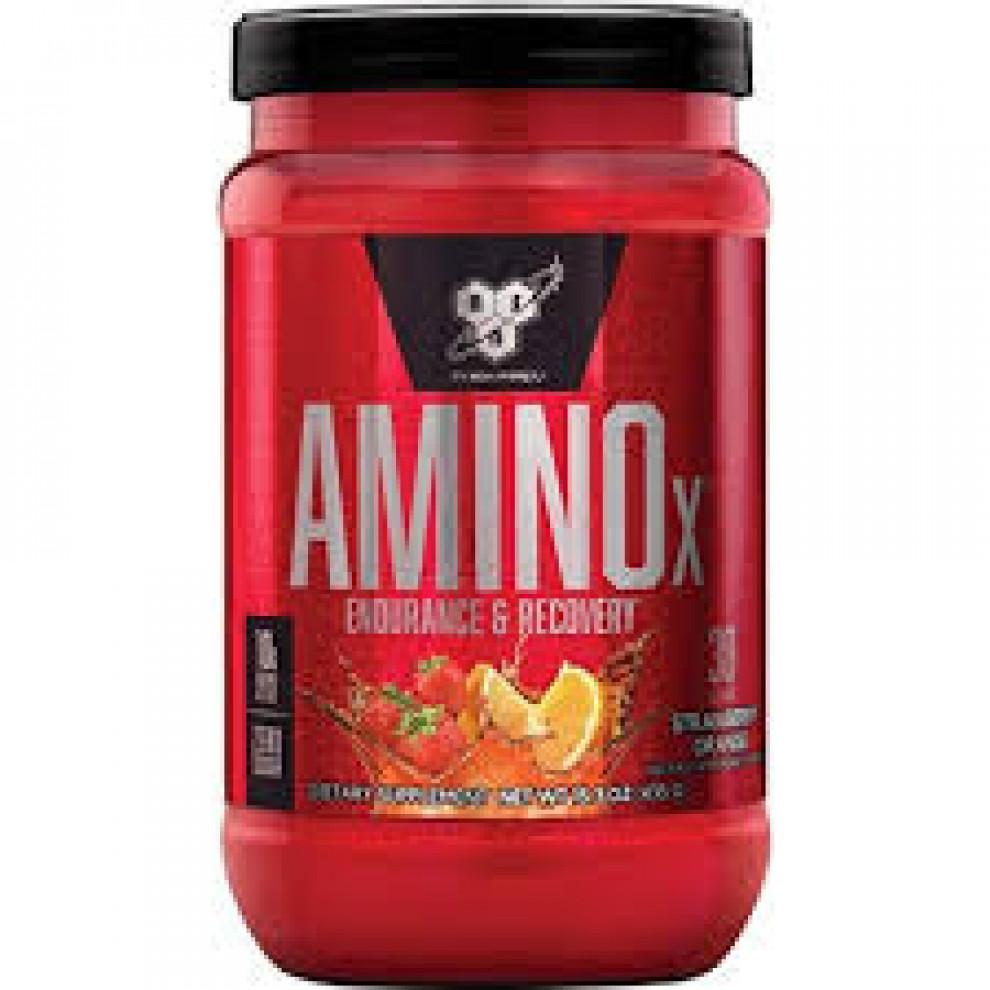Амино Х, BSN, Amino X, (клубника-апельсин), 435 г