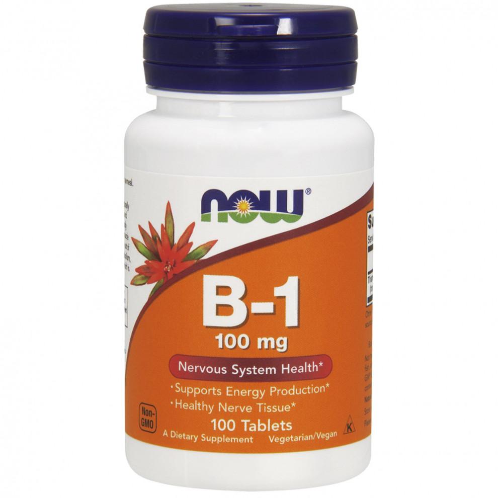 Вітамін B-1, Now Foods, B-1, 100мкг, 100 таблеток