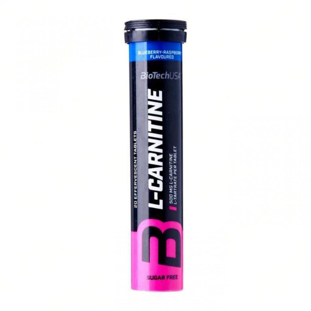 L-Карнітин, BioTechUSA, L-Carnitine Effervescent, (лимон), 20 таблеток