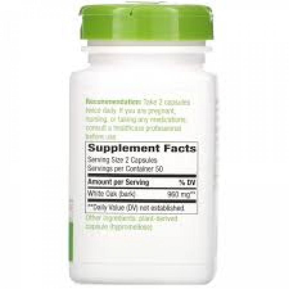 Кора білого дуба, Nature's Way, Wihite Oak Bark, 960 мг, 100 капсул
