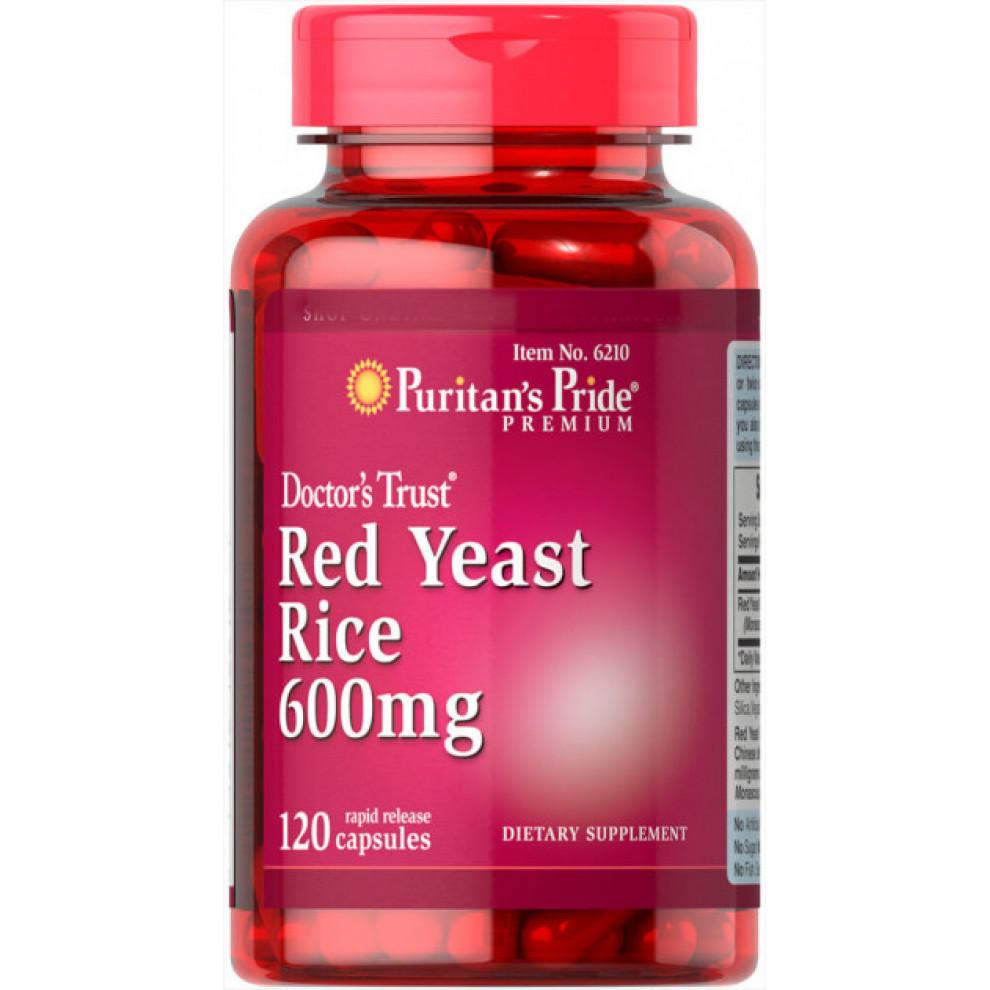 Червоний рис, Puritan`s Pride, Red Yeast Rice, 60 мг, 120 капсул